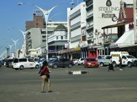 Das moderne Straßenbild von Bulawayo aus dem Jahre 2016